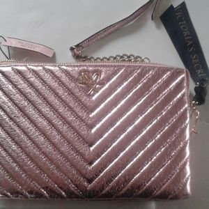 Victoria Secret NWT trifold pink small bag